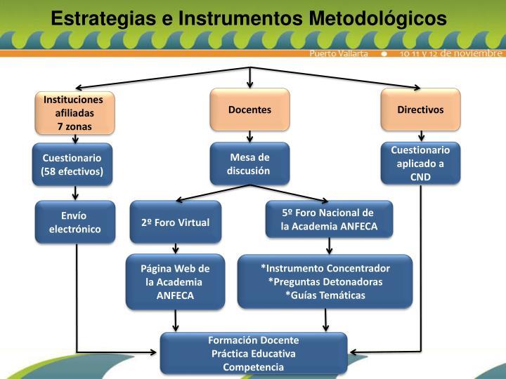 Estrategias e Instrumentos Metodológicos