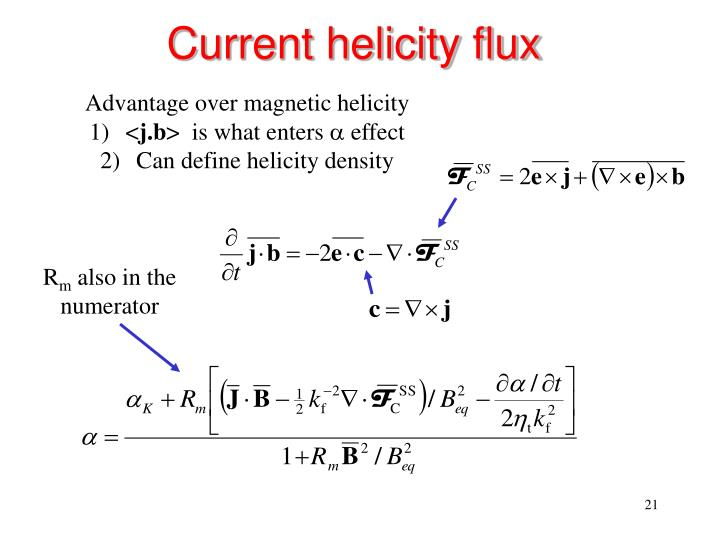 Current helicity flux