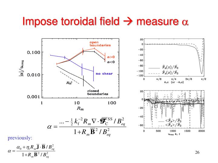 Impose toroidal field