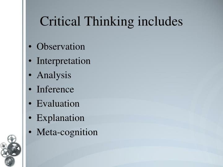 powerpoint presentation developing critical thinking Create a powerpoint presentation that explains the concepts of perception and critical thinking to high school seniors in your explanation, address the following: - how all five senses impact perception.