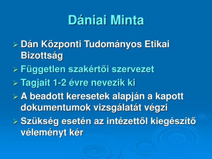 Dániai Minta