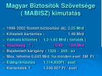 magyar biztos t k sz vets ge mabisz kimutat s