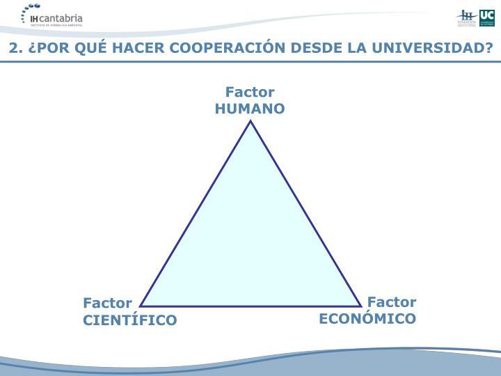 2. ¿POR QUÉ HACER COOPERACIÓN DESDE LA UNIVERSIDAD?