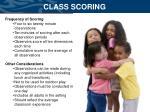 class scoring