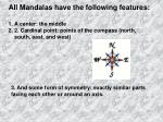 all mandalas have the following features