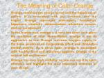 the meaning of color orange