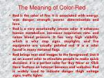 the meaning of color red