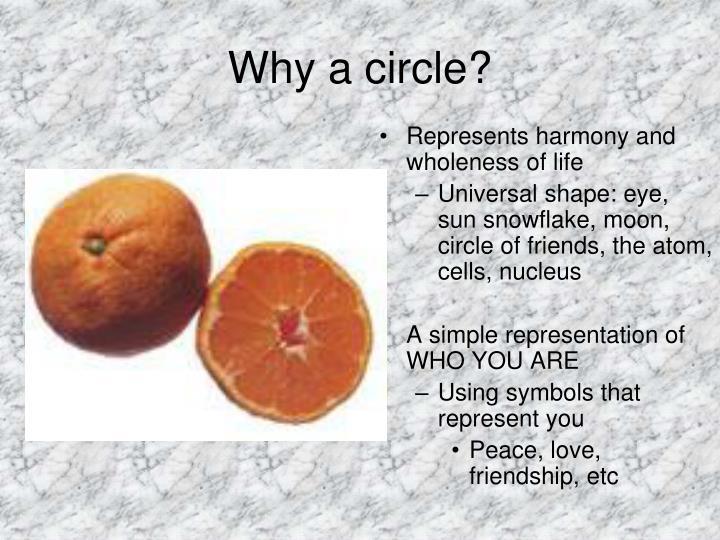 Why a circle?