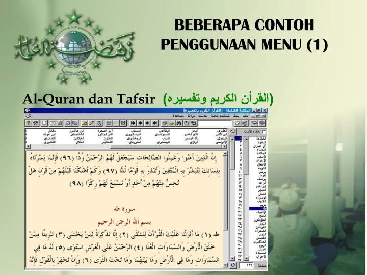 BEBERAPA CONTOH PENGGUNAAN MENU (1)