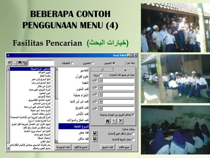 BEBERAPA CONTOH PENGGUNAAN MENU (4)