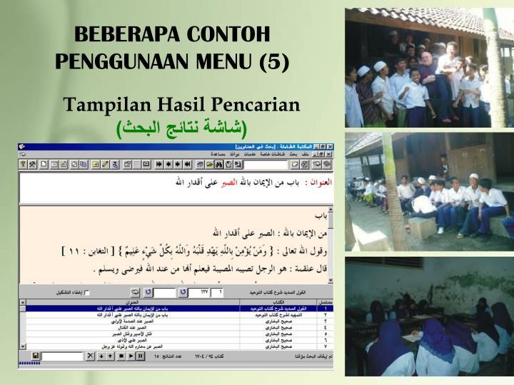 BEBERAPA CONTOH PENGGUNAAN MENU (5)