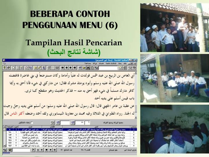 BEBERAPA CONTOH PENGGUNAAN MENU (6)