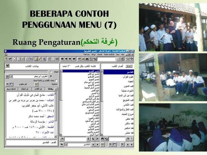 BEBERAPA CONTOH PENGGUNAAN MENU (7)