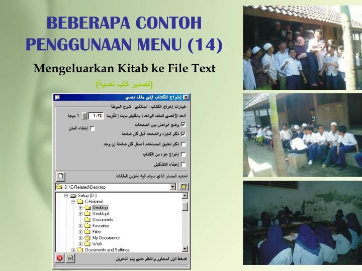 BEBERAPA CONTOH PENGGUNAAN MENU (14)