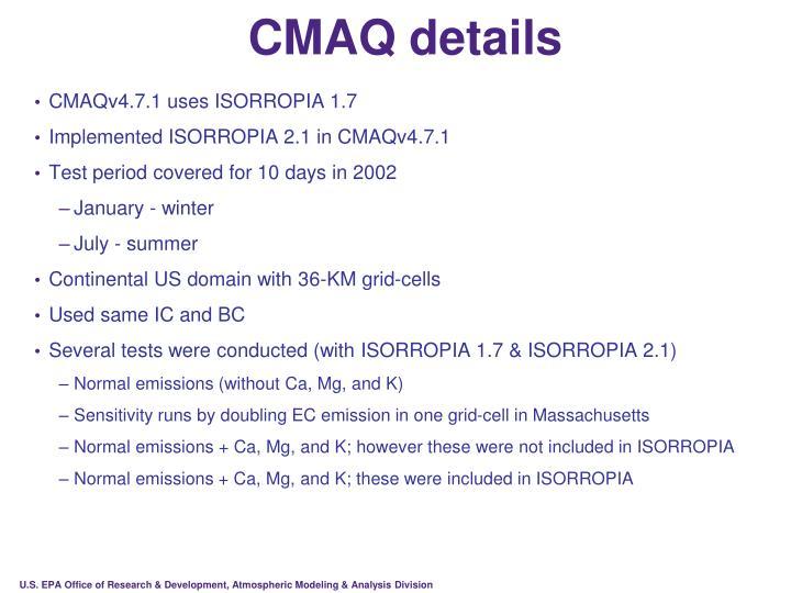 CMAQ details