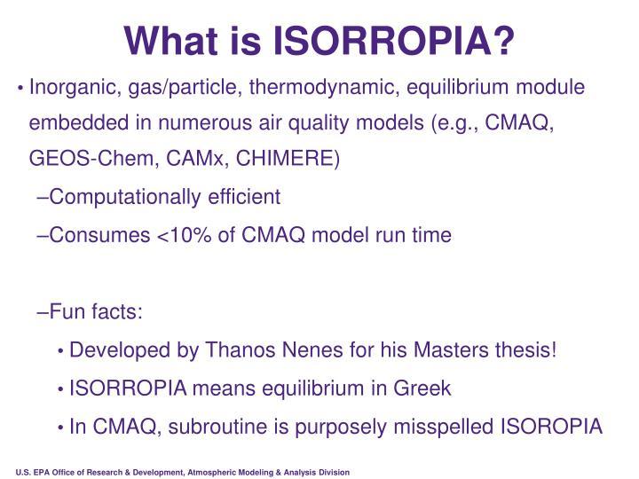What is ISORROPIA?