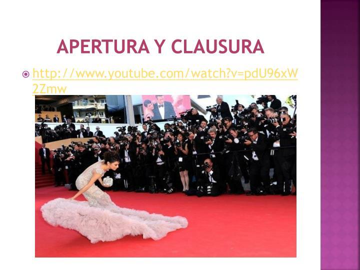 APERTURA Y CLAUSURA