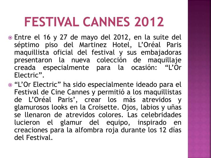 FESTIVAL CANNES 2012