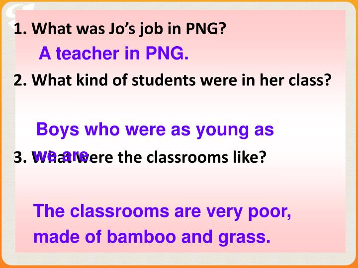 A teacher in PNG.