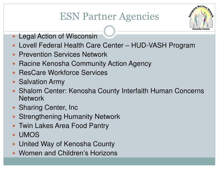 ESN Partner Agencies