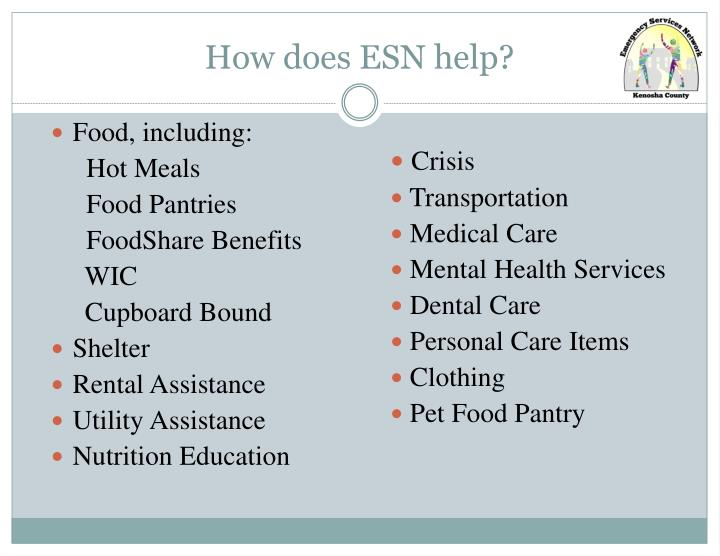 How does ESN help?