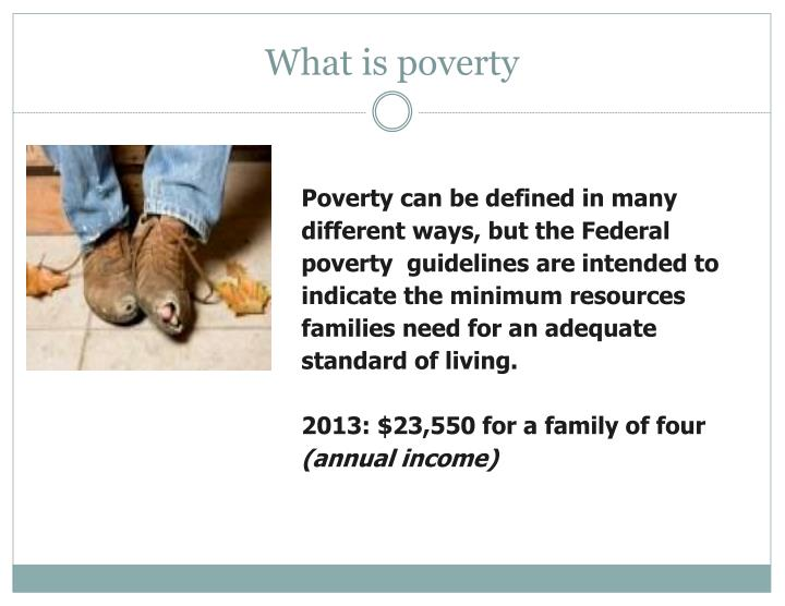 What is poverty