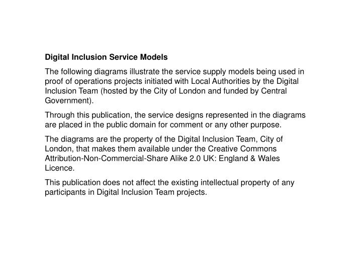 Digital Inclusion Service Models