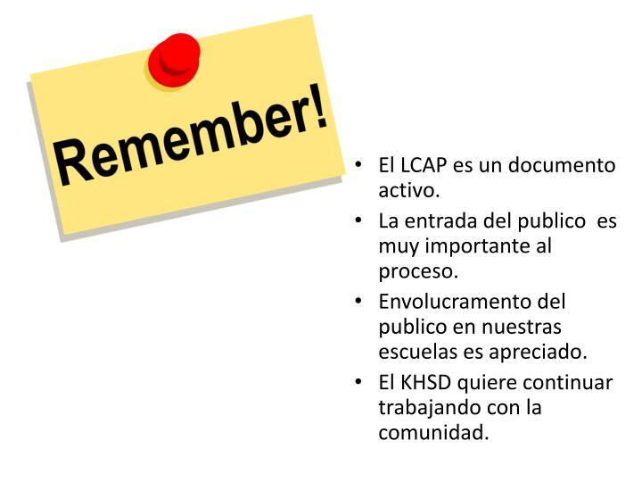 El LCAP