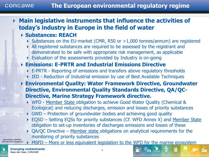 The European environmental regulatory regime