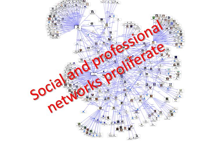 Social and professional networks proliferate