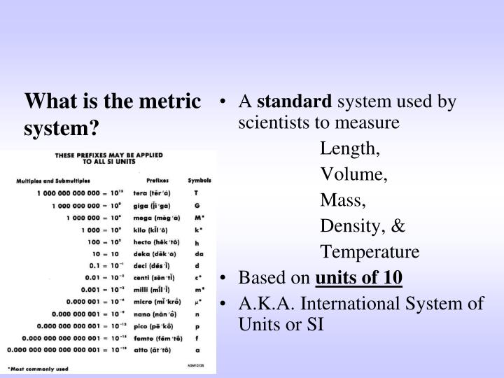 What is the metric system?