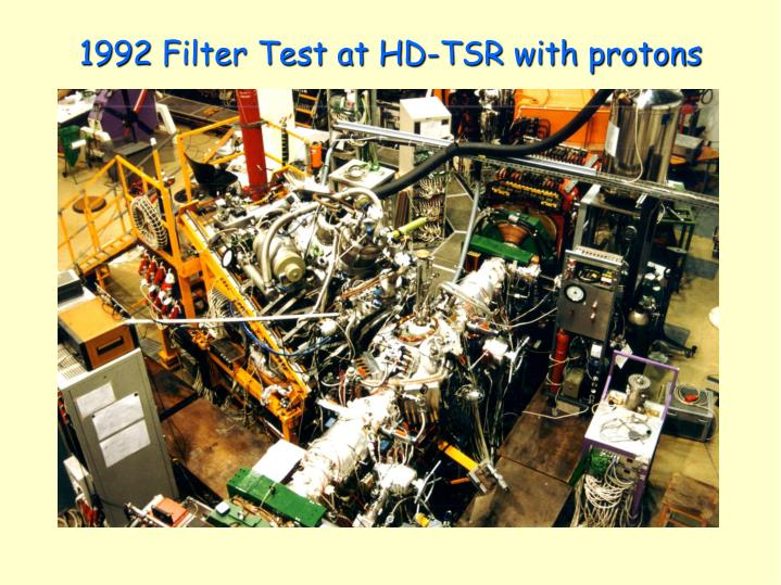 1992 Filter Test at HD-TSR with protons