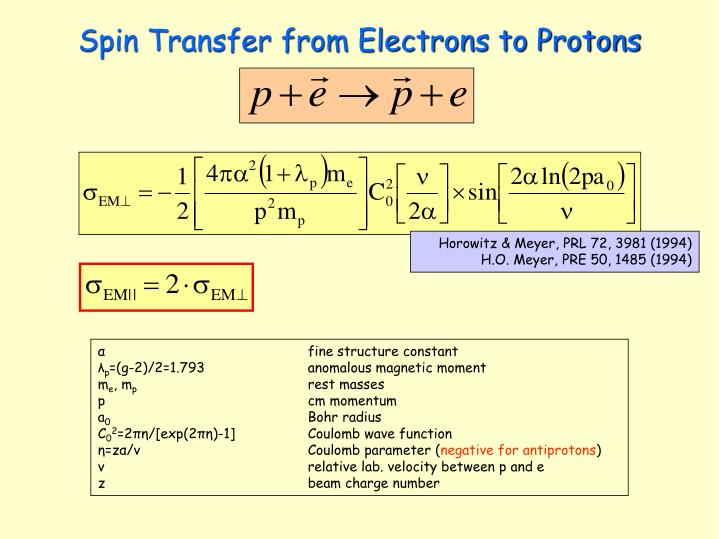 Spin Transfer from Electrons to Protons