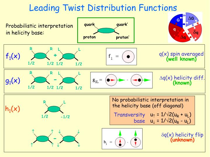 Leading Twist Distribution Functions
