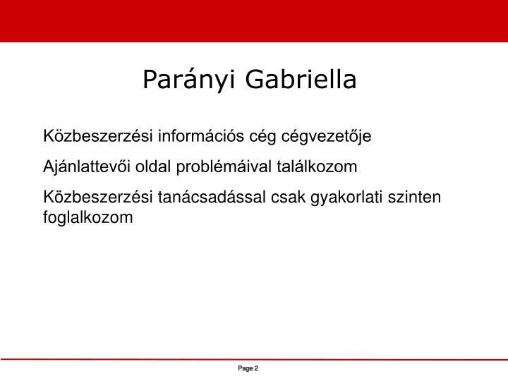 Parányi Gabriella