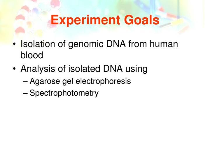 Experiment Goals