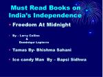 must read books on india s independence