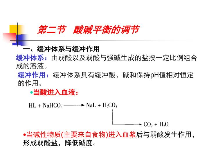 第二节   酸碱平衡的调节