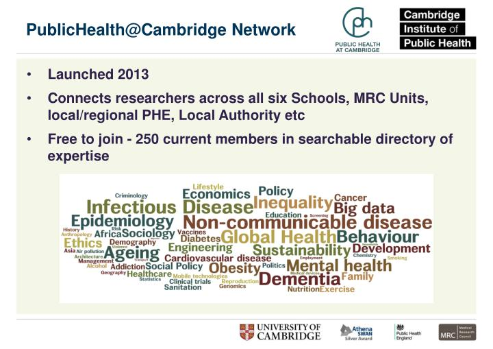 PublicHealth@Cambridge Network