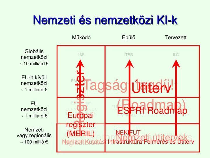 Nemzeti és nemzetközi KI-k