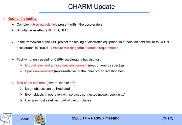 CHARM Update