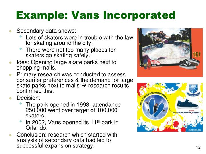 Example: Vans Incorporated