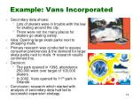 example vans incorporated