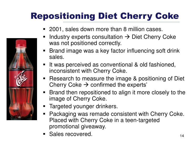 Repositioning Diet Cherry Coke