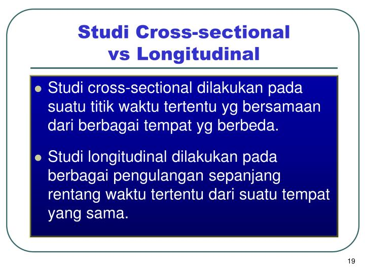 Studi Cross-sectional