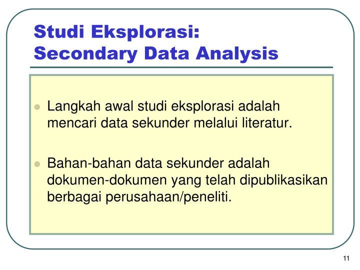 Studi Eksplorasi:
