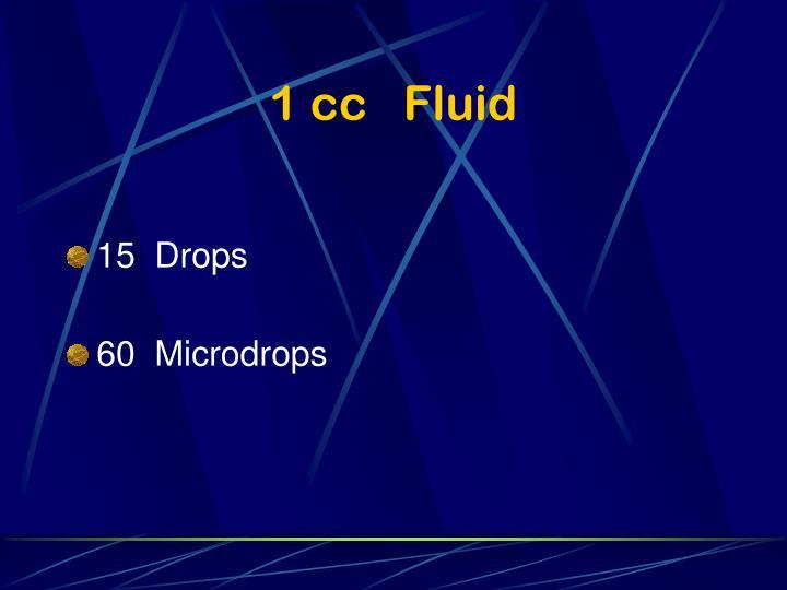 1 cc   Fluid
