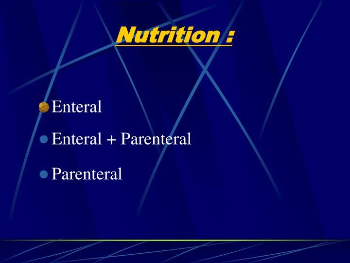 Enteral