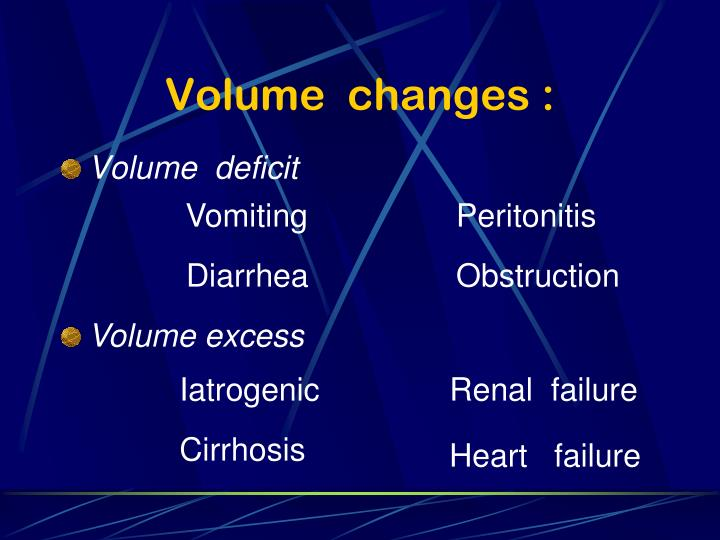 Volume  changes :