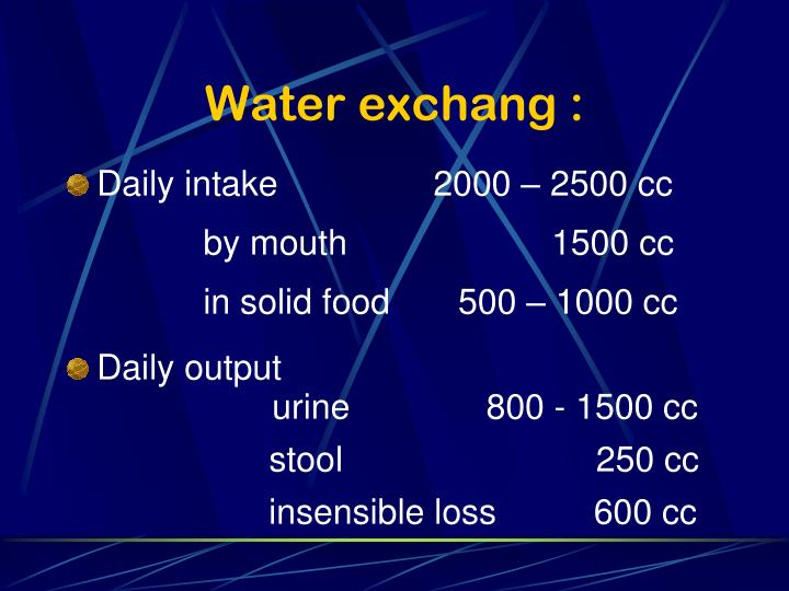 Water exchang